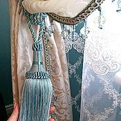 Для дома и интерьера handmade. Livemaster - original item The bedroom curtains of white satin. Handmade.