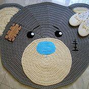 Для дома и интерьера handmade. Livemaster - original item Children`s rug, knotted cord Teddy Bear. Handmade.