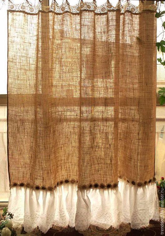 Текстиль, ковры ручной работы. Ярмарка Мастеров - ручная работа. Купить Декоративная штора для гостиной. Handmade. Штора для ванной
