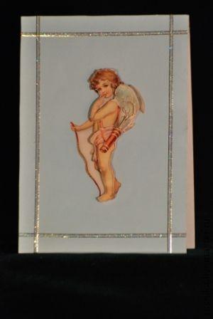 Открытки к другим праздникам ручной работы. Ярмарка Мастеров - ручная работа. Купить Открытка Ангел. Handmade. Голубой