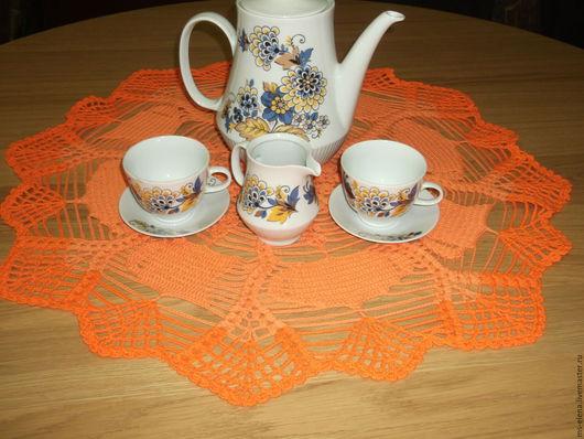 Текстиль, ковры ручной работы. Ярмарка Мастеров - ручная работа. Купить Салфеточка для чайного столика. Handmade. Оранжевый, для кухни