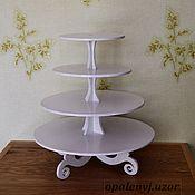 """Свадебный салон ручной работы. Ярмарка Мастеров - ручная работа Подставка""""Ферьз""""  для торта. Handmade."""
