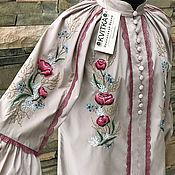 """Одежда handmade. Livemaster - original item Очаровательная блузка с ручной вышивкой """"Кружевные цветы-2"""". Handmade."""