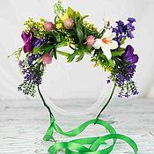 Tiaras handmade. Livemaster - original item Wreath with wildflowers. Handmade.
