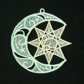 Для дома и интерьера handmade. Livemaster - original item The Crescent and the star interior pendant.. Handmade.