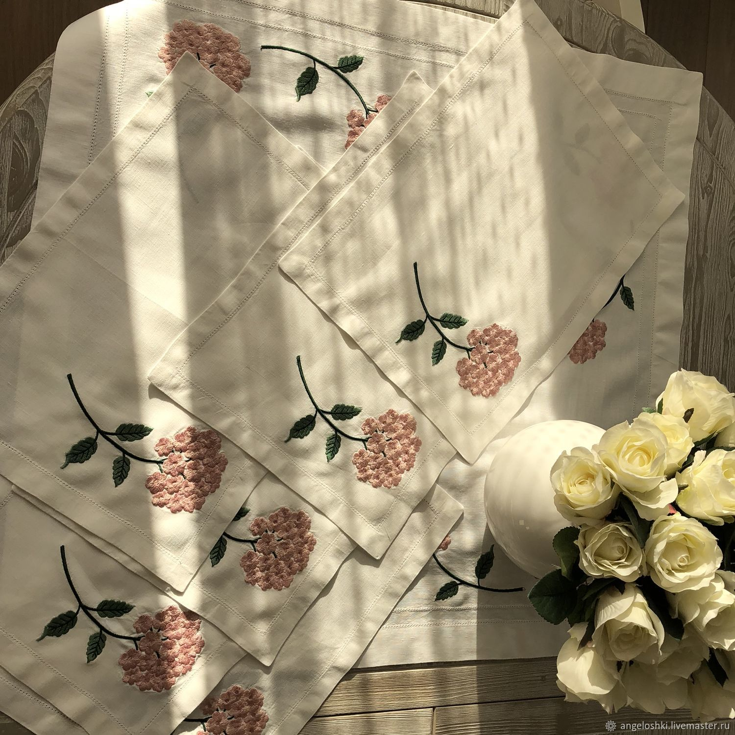 Home accessories sets: table linen set ' hydrangeas», Tables, Moscow,  Фото №1
