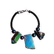 Украшения handmade. Livemaster - original item Bracelet of large stones, pyrite and hematite. Handmade.