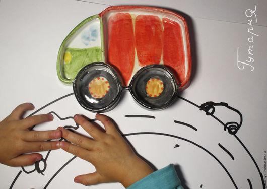 Тарелки ручной работы. Ярмарка Мастеров - ручная работа. Купить Как накормить ребенка кашей. Handmade. Ярко-красный, сервировка