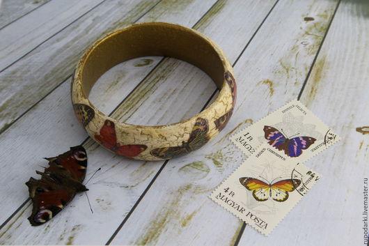 Браслеты ручной работы. Ярмарка Мастеров - ручная работа. Купить Браслет Бабочки, винтаж. Handmade. Комбинированный, Браслет ручной работы