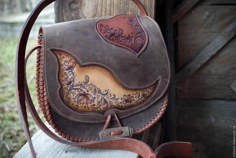 сумочка руками кожаные своими