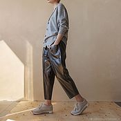 Одежда handmade. Livemaster - original item Women`s trousers of a free cut Villi. Handmade.