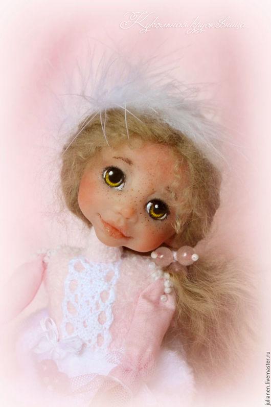 Коллекционные куклы ручной работы. Ярмарка Мастеров - ручная работа. Купить Кварцевая Бусинка. Handmade. Розовый, подарок, талисман любви