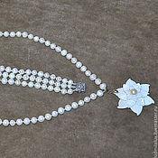 Украшения ручной работы. Ярмарка Мастеров - ручная работа Колье с цветком. Handmade.