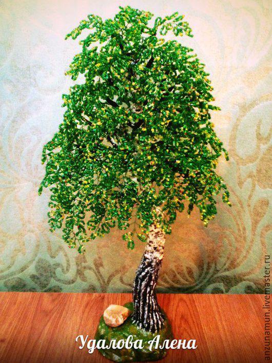 Деревья ручной работы. Ярмарка Мастеров - ручная работа. Купить Березка. Handmade. Береза из бисера, бисер, Дерево из бисера, проволока