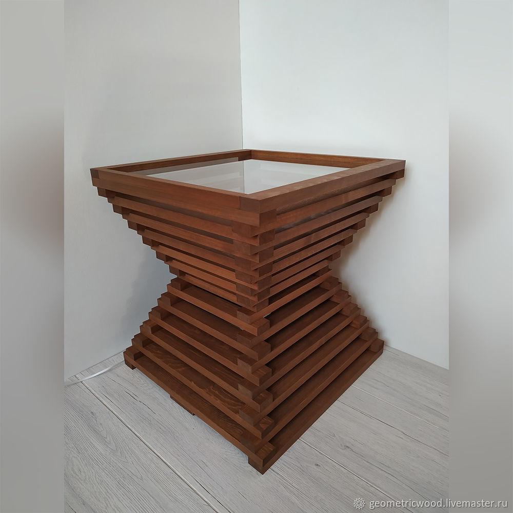 Дизайнерский журнальный столик - светильник из дерева Sandy, Столы, Москва,  Фото №1