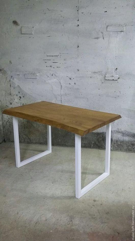 Мебель ручной работы. Ярмарка Мастеров - ручная работа. Купить Стол обеденный. Handmade. Стол, металл, Дуб