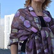 Аксессуары handmade. Livemaster - original item Life in the ECO style Original gift for a woman Felted stole silk. Handmade.
