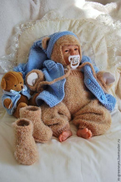 """Для новорожденных, ручной работы. Ярмарка Мастеров - ручная работа. Купить Комплект для новорожденного """"Нежный Мимимишка"""" + подарок. Handmade."""