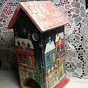 """Для дома и интерьера ручной работы. Ярмарка Мастеров - ручная работа Чайный домик """"Зимний городок"""". Handmade."""