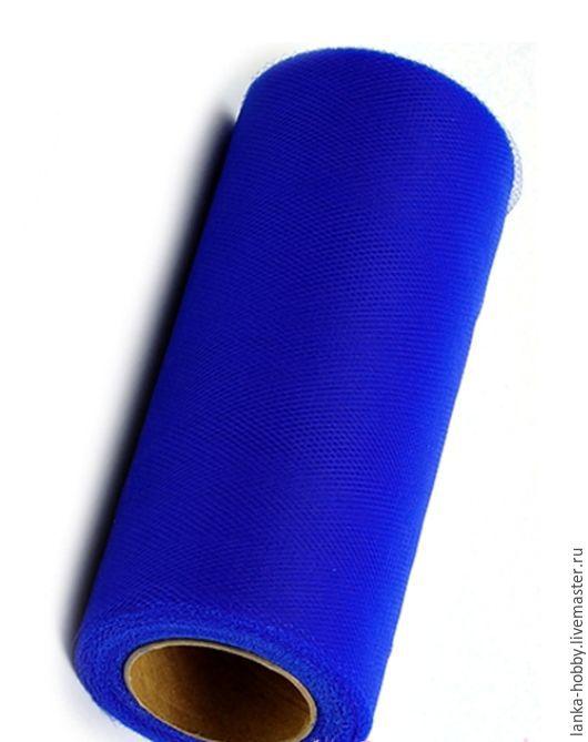 Фатин мягкий. Ширина 15 см.  Цвет - королевский синий - Цена указана за 1 метр.