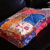 Для дома и интерьера ручной работы. Ярмарка Мастеров - ручная работа Лоскутное покрывало Rag-quilt  Взрыв цвета. Handmade.