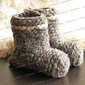 Обувь ручной работы handmade. Livemaster - original item Chuni sheep wool, grey # №2. Handmade.