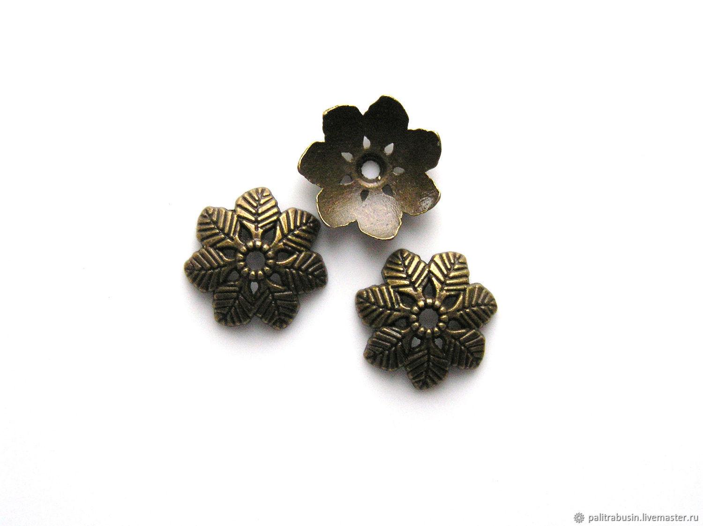 Cap beads bronze, Accessories for jewelry, Tyumen,  Фото №1