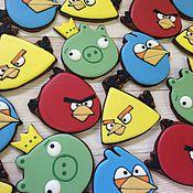Сувениры и подарки ручной работы. Ярмарка Мастеров - ручная работа Пряники птички Angry birds. Handmade.