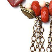 """Украшения ручной работы. Ярмарка Мастеров - ручная работа Колье из яшмы """"Красный цветок"""". Handmade."""