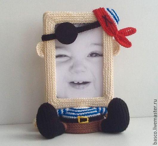 Детские карнавальные костюмы ручной работы. Ярмарка Мастеров - ручная работа. Купить Фоторамка для мальчика Пират. Handmade. Комбинированный, для фото