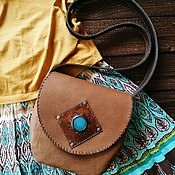 Сумки и аксессуары handmade. Livemaster - original item Bag made of genuine leather in the boho style
