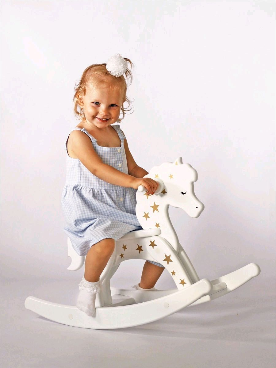 Wooden rocking horse baby with name custom gift to baby, Rolling Toys, Ivanovo,  Фото №1