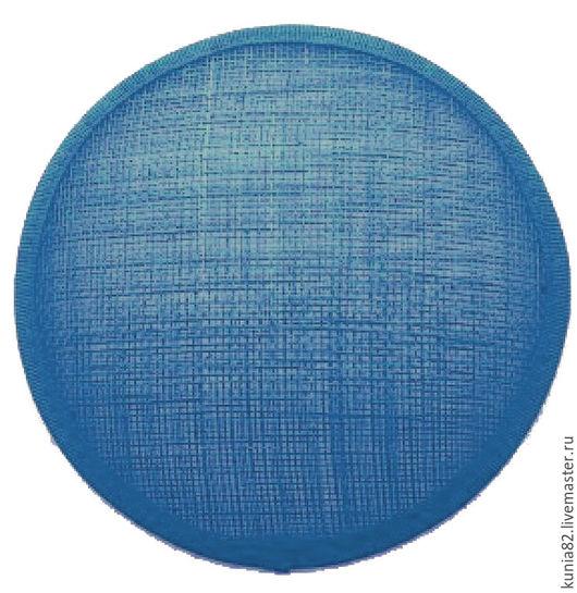 Основа для шляпки, вуалетки, синамей, диаметр 11 см. Цвет: СВЕТЛО-СИНИЙ, полуфабрикат для изготовления шляп и головных уборов. Анна Андриенко. Ярмарка Мастеров.