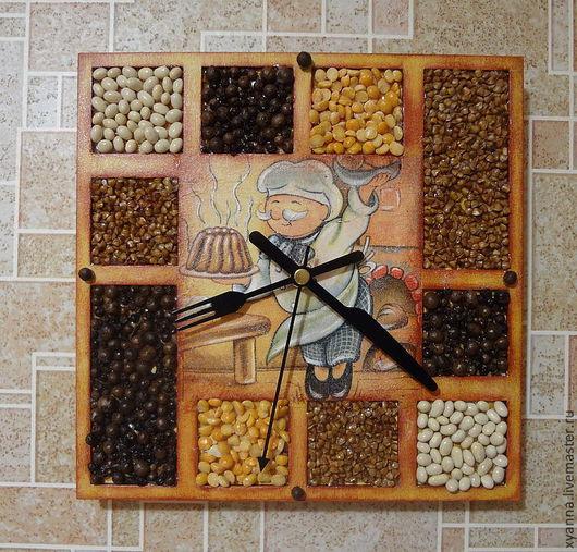 Часы для дома ручной работы. Ярмарка Мастеров - ручная работа. Купить часы. Handmade. Часы, оранжевый, кухня, дерево