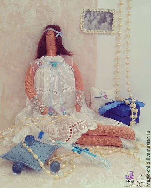 Куклы Тильды ручной работы. Ярмарка Мастеров - ручная работа. Купить Феюшка. Handmade. Белый, кружево, винтаж, элегантность, флис