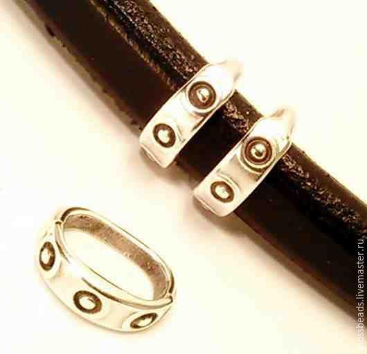 """Для украшений ручной работы. Ярмарка Мастеров - ручная работа. Купить Металлическая бусина """"три точки"""" для браслета Regaliz. Handmade."""