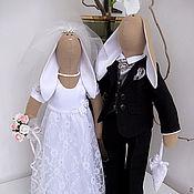 Куклы и игрушки ручной работы. Ярмарка Мастеров - ручная работа Свадебные зайчики Тильда. Handmade.