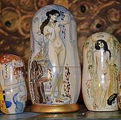 Русский стиль handmade. Livemaster - original item matryoshka Klimt. Handmade.