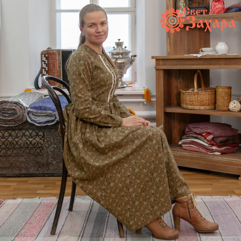 Платье теплое зеленая байка, Платья, Киров, Фото №1