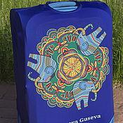"""Сумки и аксессуары handmade. Livemaster - original item Luggage cover """"Indian elephants"""". Handmade."""