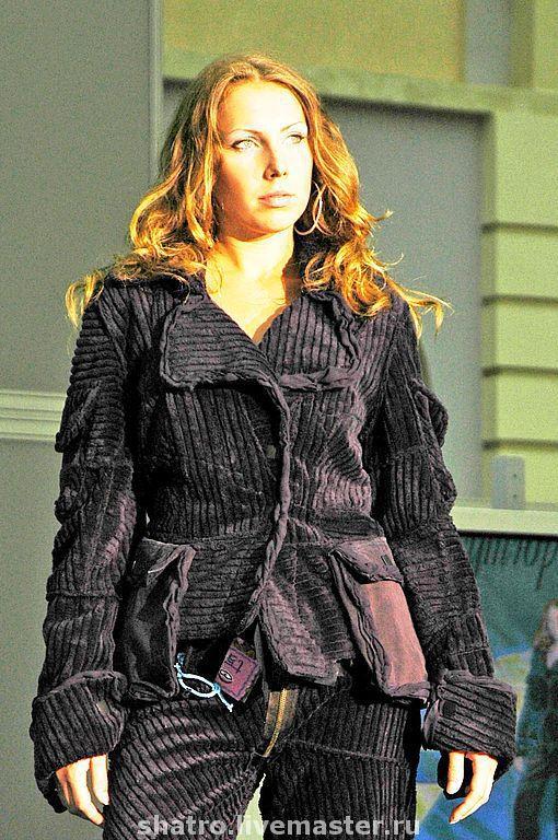 Пиджаки, жакеты ручной работы. Ярмарка Мастеров - ручная работа. Купить куртка СИНИЙ ВЕЛЬВЕТ. Handmade. Пиджак, верхняя одежда