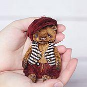 Куклы и игрушки ручной работы. Ярмарка Мастеров - ручная работа Лаврик мишка 11,5см. Handmade.