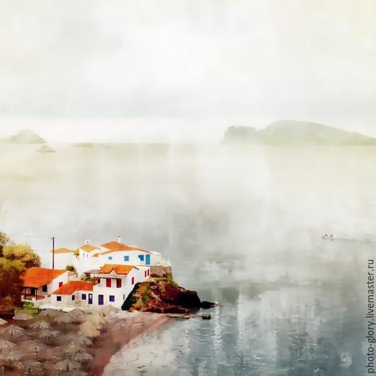 """Фотокартины ручной работы. Ярмарка Мастеров - ручная работа. Купить Фотокартина """"Каждый из нас — остров"""" сделана в Греции. Handmade."""