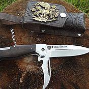 """Сувениры и подарки handmade. Livemaster - original item Нож складной 3-х предметный """"Граф Шувалов"""" из кованой стали 95Х18. Handmade."""