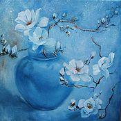 Картины и панно handmade. Livemaster - original item Picture of Blue flowers soft. Handmade.