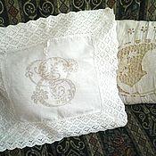 Предметы интерьера винтажные ручной работы. Ярмарка Мастеров - ручная работа Чудесная наволочка с вышивкой и кружевом. Handmade.