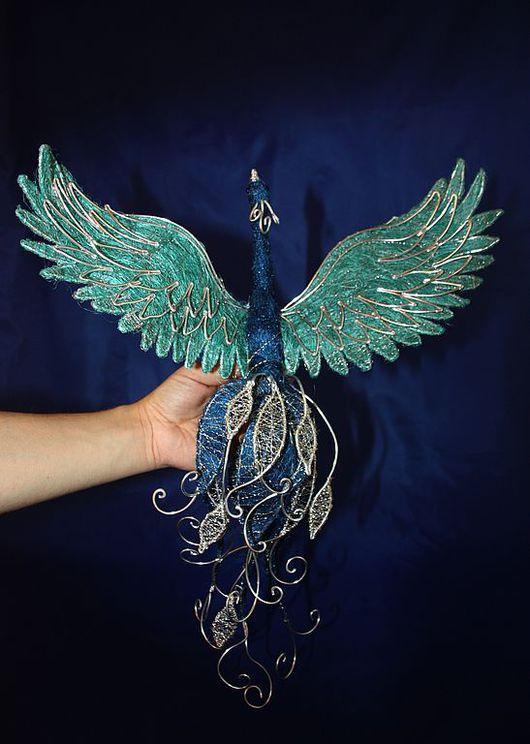 Элементы интерьера ручной работы. Ярмарка Мастеров - ручная работа. Купить Синяя Птица из сизаля. Handmade. Синяя птица