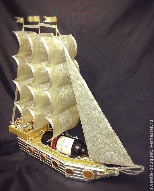 Интерьерные композиции ручной работы. Ярмарка Мастеров - ручная работа. Купить Сладкий корабль. Handmade. Корабль, необычный подарок