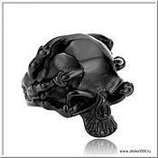 handmade. Livemaster - original item Men`s Skull ring No. 7 steel. Handmade.