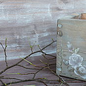 Для дома и интерьера ручной работы. Ярмарка Мастеров - ручная работа ящики деревянные с росписью коричневые. Handmade.